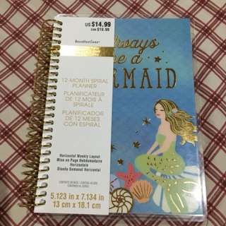 Recollections Always Be a Mermaid 12 month planner