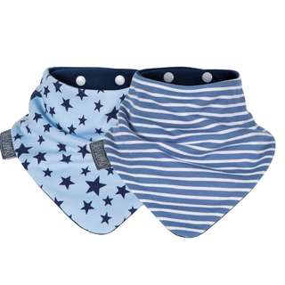 Cheeky Chompers Neckerbib- Blue Stars & Stripes