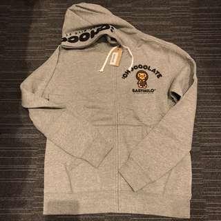Chocolate x Bape 灰色衛衣外套 L size