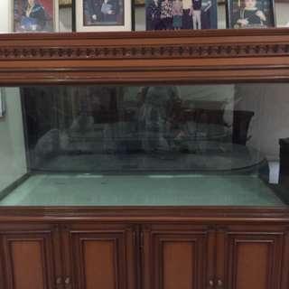 Aquarium rangka jati