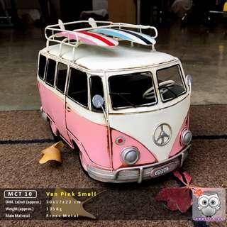 Unique Pink Picnic Van with Surfboard