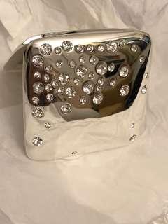 Swarovski crystal compact mirror 水晶雙面化妝鏡