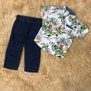 Carter's boy set ( Alohai) size 1yr - 5yrs