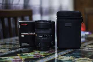 Sigma 8-16mm F4.5-5.6 DC HSM Ultra-Wide Zoom Lens (Canon Mount)