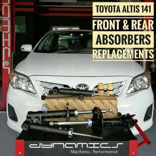 Toyota Altis_141 :Original Front & Rear Absorbers replacements