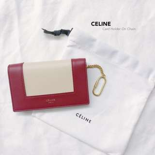 CELINE Card Holder with Key Chain