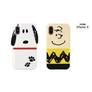 Snoopy charlie Iphone X case  Soft case