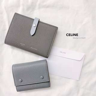 CELINE Wallets in Kohl Color