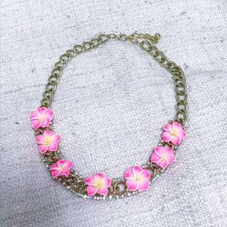 Statement Plumeria Necklace