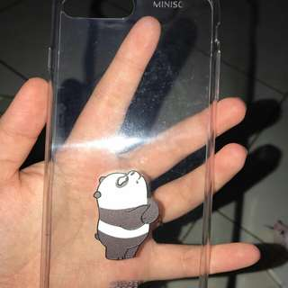 Casing miniso panda iphone 7+