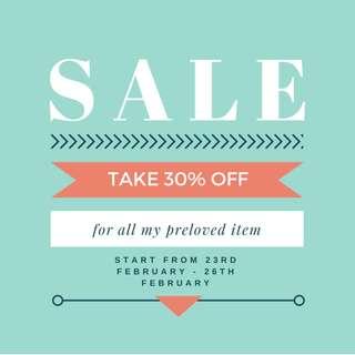 BIRTHDAY SALE! 30% DISCOUNT!
