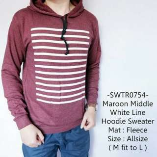 TiaBFT sweater casual middle white line (no barter, no nego)