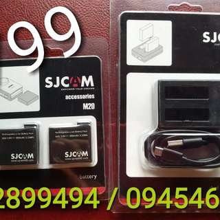 sjcam m20 dual bat and dual charger bnew