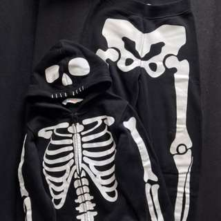 H&M skeleton hoodie&pants