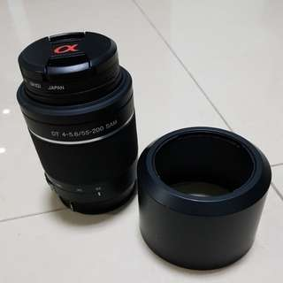 Sony 55-200 f/4.5-5.6 SAM DT Telephoto Zoom for Sony Alpha Digital SLR Camera