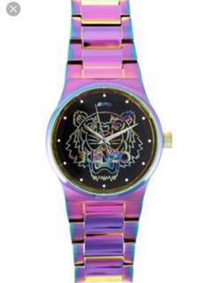 Kenzo Rainbow Tigerhead Watch