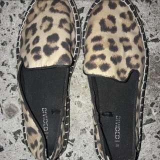 H&M Leopard slip on shoes