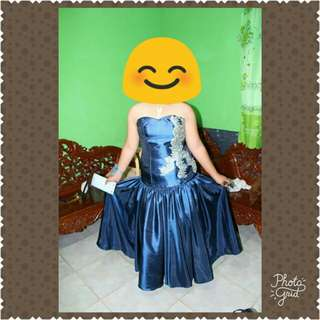 preloved gown (blue)
