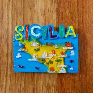 Sicily Ref Fridge Magnet
