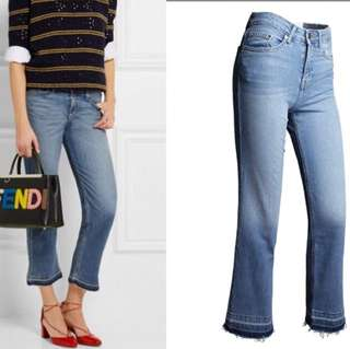 (S~3XL) European station speaker quarter pants denim jeans in the high-waist edges