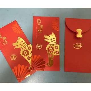 【陽陽小舖】《紅包袋》intel 2018 收藏 紀念款 紅包袋 3入一包