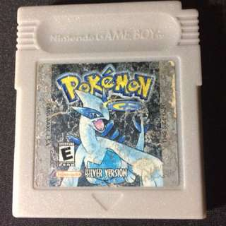 Authentic GBC Gameboy Color cart Pokemon Silver US