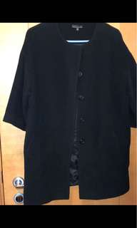 IT bought black laine wool coat