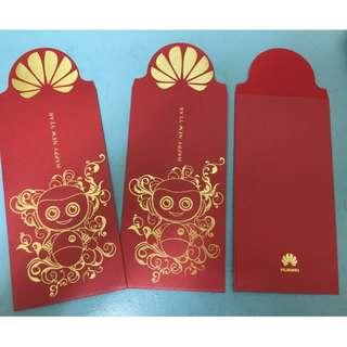 【陽陽小舖】《紅包袋》HUAWEI 收藏 紀念款 紅包袋 3入一包