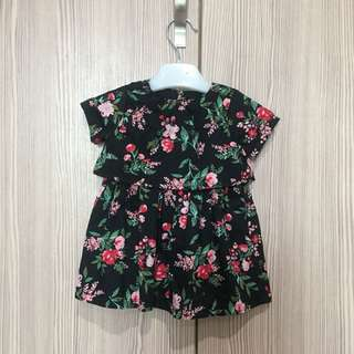 Carters Flower Black Dress