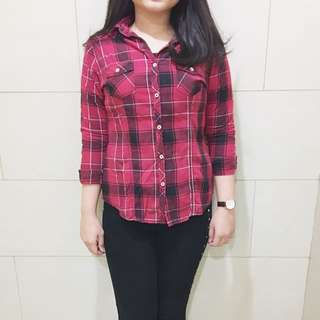 Tartan Shirt in red
