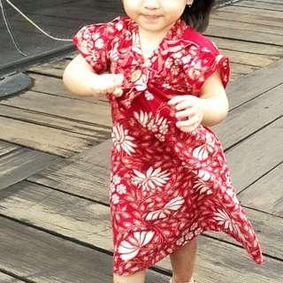 #ImlekHoki Dress Batik