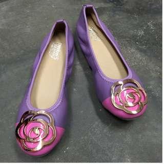 bf884f03a7cd twelve15twenty DOLLY Purple Lambskin Leather Ballerina Flats