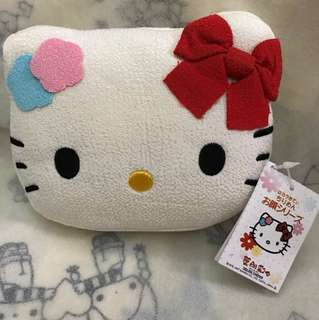 Hello kitty face pouch