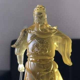 古法琉璃关公财神 (Liuli) Guan Gong Cai Shen