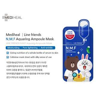 Mediheal LINE FRIENDS N.M.F Aquaring Ampoule Mask 10 sheets per box