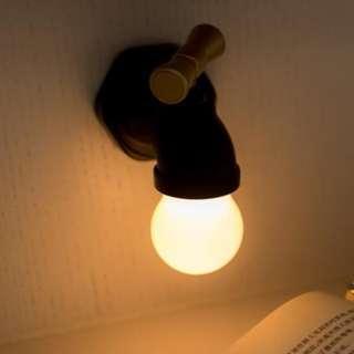 全新USB充電 水龍頭型 掛壁聲控加光控小夜燈