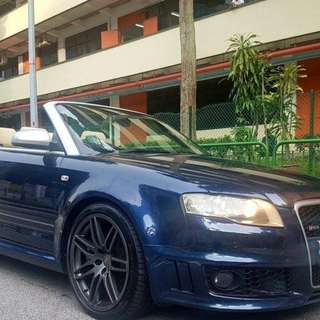 Audi RS4 Cabriolet 4.2cc V8 Engine 6 speed manual