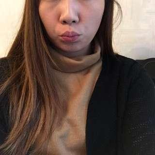 韓國駝色企領上衣