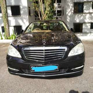 Mercedes S300 W221 V6 Engine with sunroof