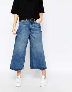 BN Wide Leg Jeans Ladies High Waist