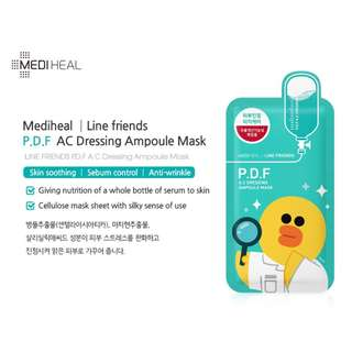 Mediheal LINE FRIENDS P.D.F AC-Dressing Ampoule Mask 10 sheets per box