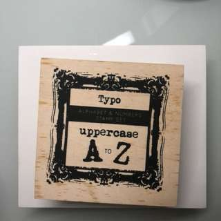 TYPO Uppercase Alphabet Stamp Set