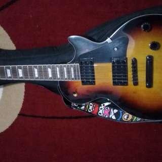 Guitar custom lespaul epiphone mulus terawat..plus semi gigbag tebal plus strap