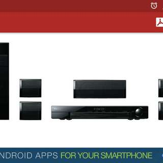 Pioneer home theater system 3d bluray 5.1