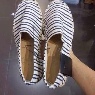Rubi Shoes Jules Espadrille Navy Stripes Slip-On