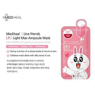 Mediheal LINE FRIENDS I.P.I Lightmax Ampoule Mask 10 sheets per box