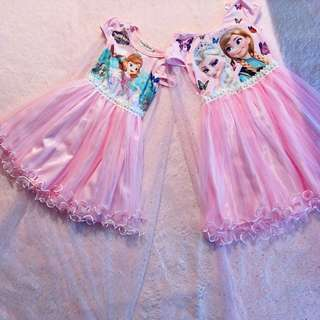 Princesses Sofia & Elsa Dresses 2Pcs Set SALE $50