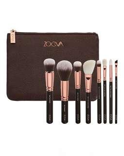 Zoeva rose golden luxury brush set