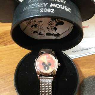 BNIB! 2002 Limited Edition Tokyo Disneyland Happy Birthday Mickey Mouse Watch (only 500 ever released)