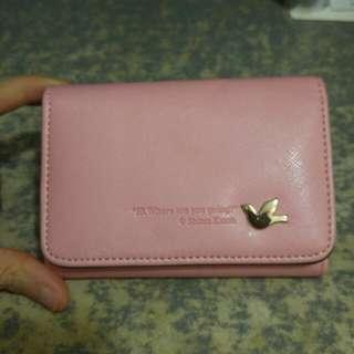 櫻花粉銀包 pink wallet